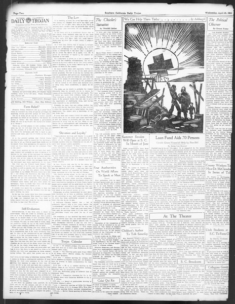 Daily Trojan, Vol. 24, No. 130, April 26, 1933