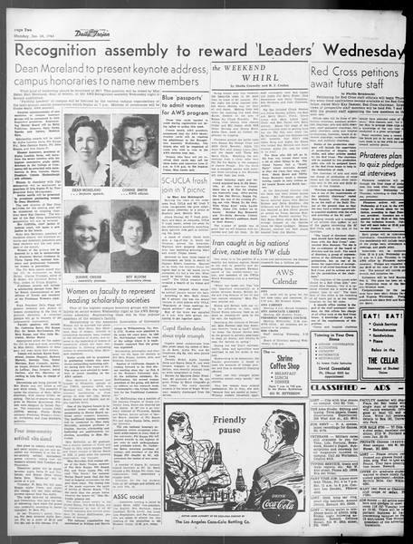 Daily Trojan, Vol. 37, No. 58, January 28, 1946