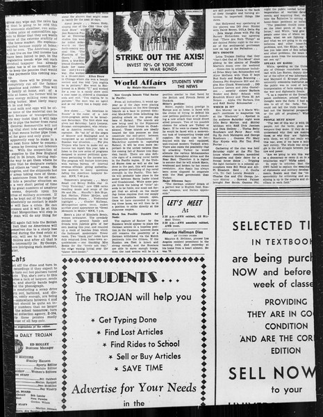Daily Trojan, Vol. 34, No. 74, January 18, 1943