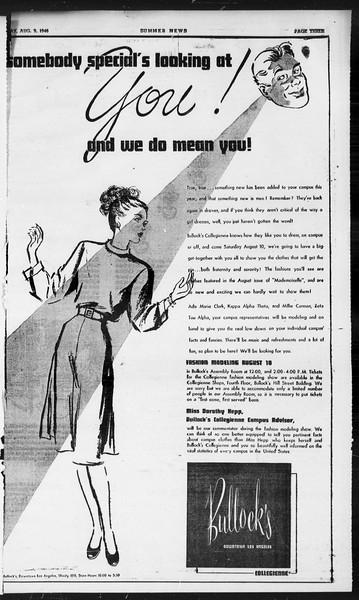Summer News, Vol. 1, No. 19, August 09, 1946