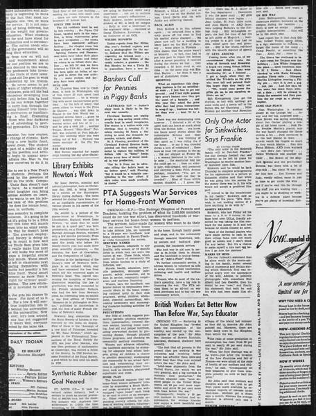 Daily Trojan, Vol. 34, No. 64, January 04, 1943