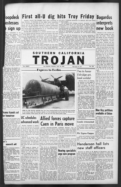 The Trojan, Vol. 35, No. 135, July 10, 1944