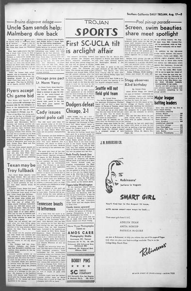 Daily Trojan, Vol. 36, No. 180, August 17, 1945