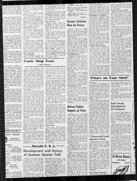 Daily Trojan, Vol. 34, No. 71, January 13, 1943