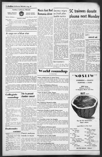 The Trojan, Vol. 35, No. 153, August 21, 1944