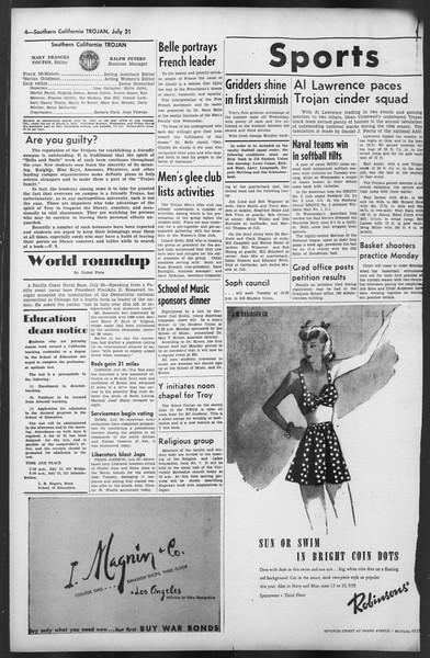 The Trojan, Vol. 35, No. 140, July 21, 1944