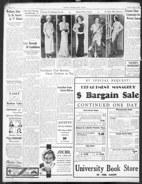 Daily Trojan, Vol. 24, No. 134, May 02, 1933