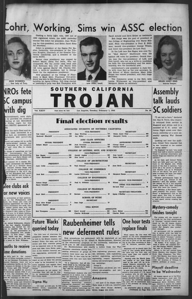The Trojan, Vol. 35, No. 80, February 01, 1944