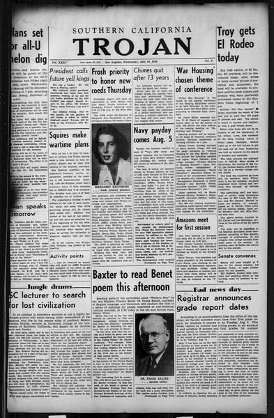 Southern California Trojan, Vol. 35, No. 5, July 14, 1943
