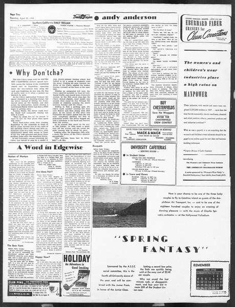 Daily Trojan, Vol. 39, No. 122, April 20, 1948