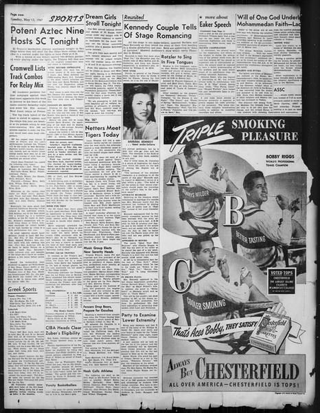 Daily Trojan, Vol. 38, No. 133, May 13, 1947
