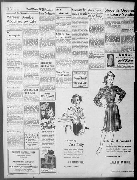 Daily Trojan, Vol. 37, No. 85, March 15, 1946