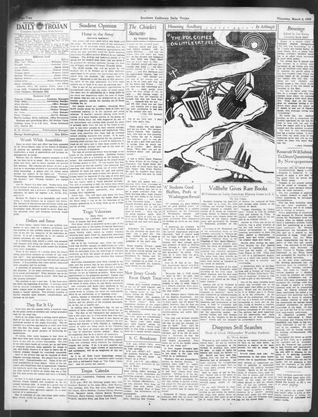 Daily Trojan, Vol. 24, No. 96, March 02, 1933