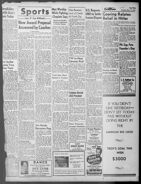 Daily Trojan, Vol. 37, No. 87, March 19, 1946