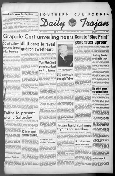 Daily Trojan, Vol. 36, No. 194, September 06, 1945