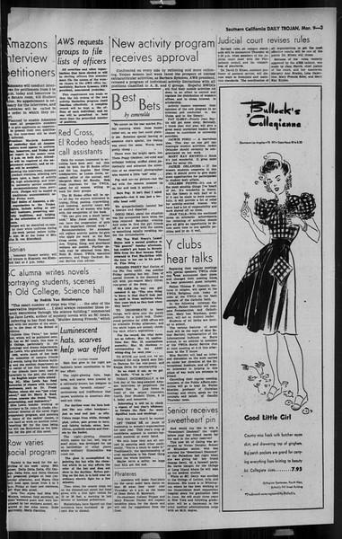 Daily Trojan, Vol. 34, No. 100, March 09, 1943