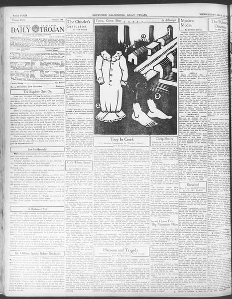 Daily Trojan, Vol. 23, No. 148, May 18, 1932
