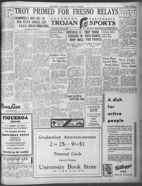 Daily Trojan, Vol. 23, No. 145, May 13, 1932