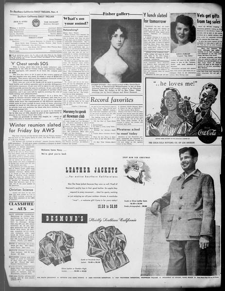Daily Trojan, Vol. 37, No. 4, November 06, 1945