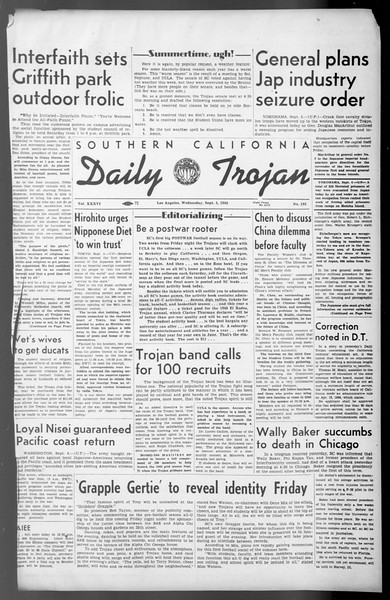 Daily Trojan, Vol. 36, No. 193, September 05, 1945