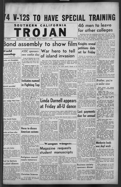 The Trojan, Vol. 35, No. 82, February 07, 1944