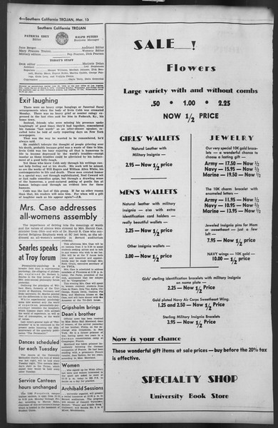 The Trojan, Vol. 35, No. 93, March 15, 1944