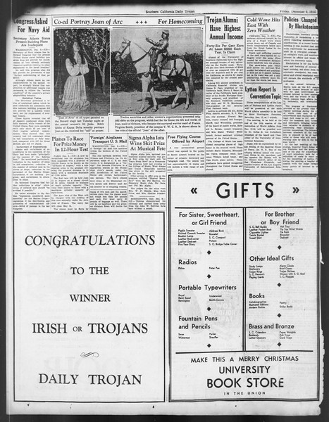 Daily Trojan, Vol. 24, No. 62, December 09, 1932