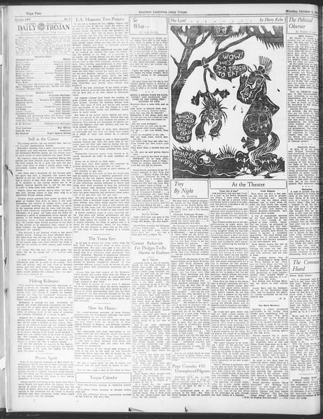 Daily Trojan, Vol. 25, No. 7, October 02, 1933