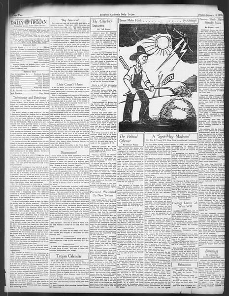 Daily Trojan, Vol. 24, No. 71, January 13, 1933