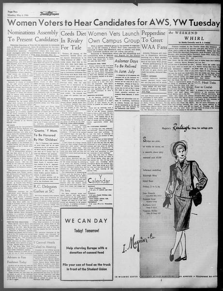 Daily Trojan, Vol. 37, No. 121, May 06, 1946