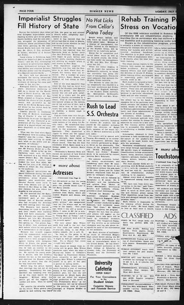 Summer News, Vol. 1, No. 15, July 29, 1946