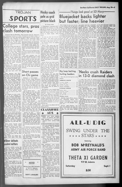 Daily Trojan, Vol. 36, No. 188, August 29, 1945