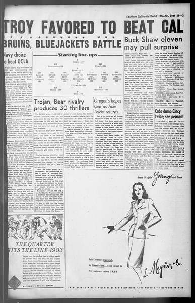 Daily Trojan, Vol. 36, No. 210, September 28, 1945