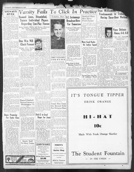 Daily Trojan, Vol. 24, No. 8, September 20, 1932