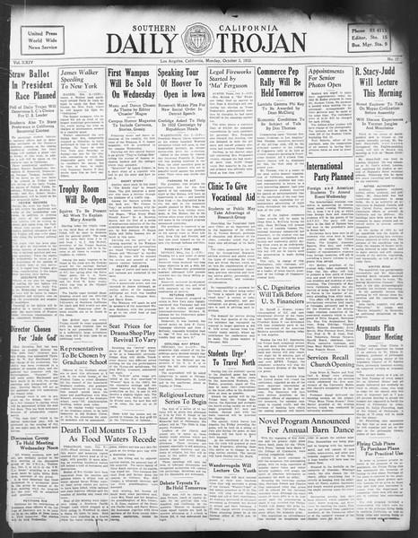 Daily Trojan, Vol. 24, No. 17, October 03, 1932