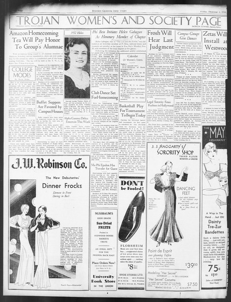 Daily Trojan, Vol. 24, No. 57, December 02, 1932