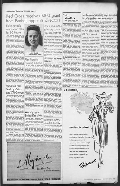 The Trojan, Vol. 35, No. 108, April 21, 1944