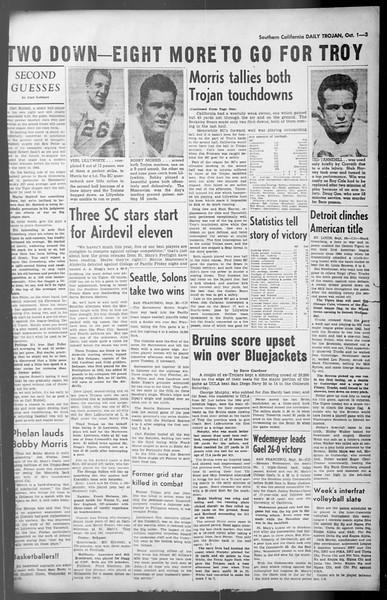 Daily Trojan, Vol. 36, No. 211, October 01, 1945