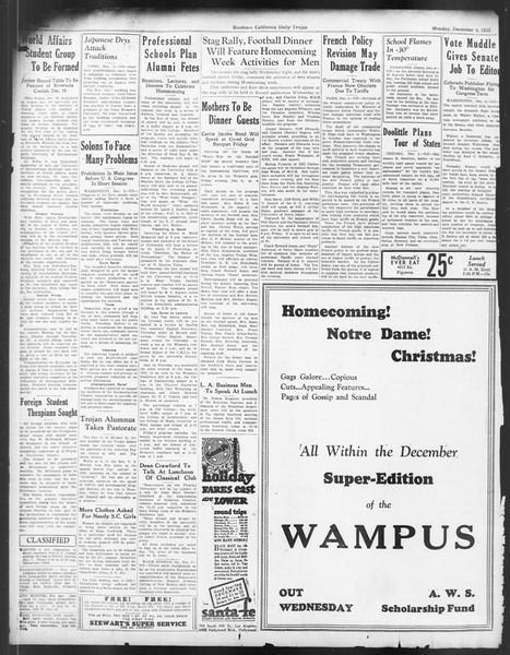 Daily Trojan, Vol. 24, No. 58, December 05, 1932