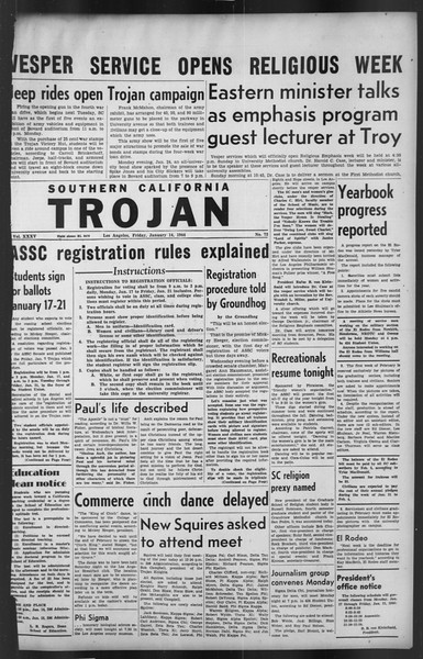 The Trojan, Vol. 35, No. 72, January 14, 1944