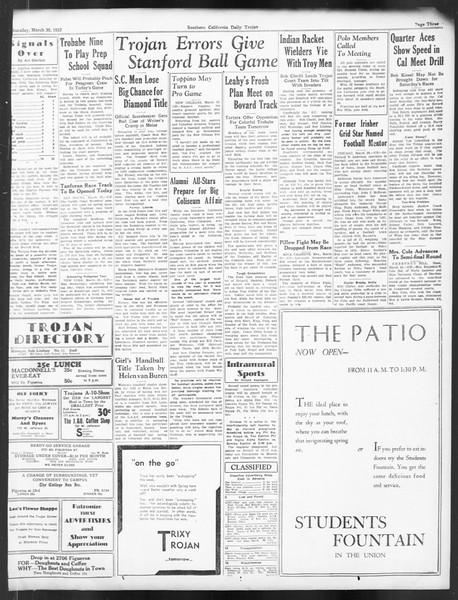Daily Trojan, Vol. 24, No. 117, March 30, 1933