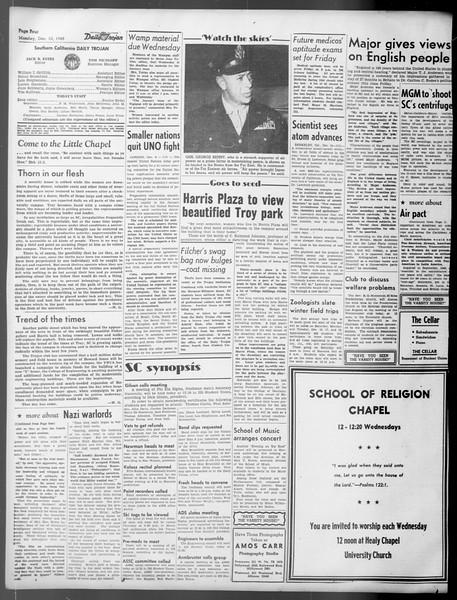 Daily Trojan, Vol. 37, No. 27, December 10, 1945