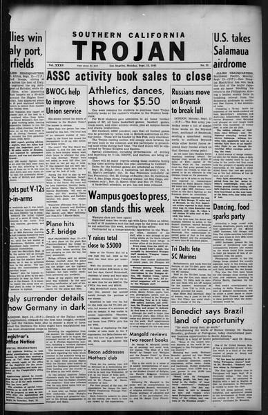 Southern California Trojan, Vol. 35, No. 31, September 13, 1943