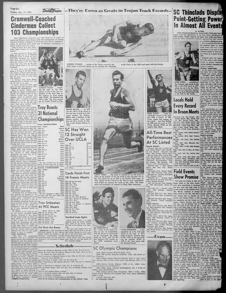 Daily Trojan, Vol. 37, No. 110, April 19, 1946
