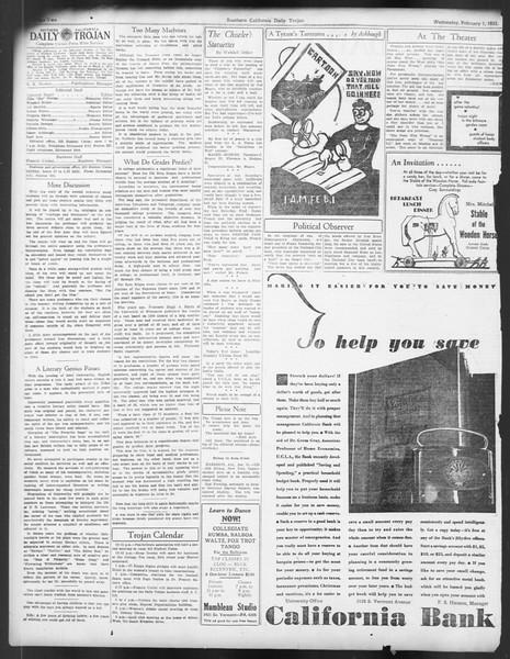 Daily Trojan, Vol. 24, No. 76, February 01, 1933