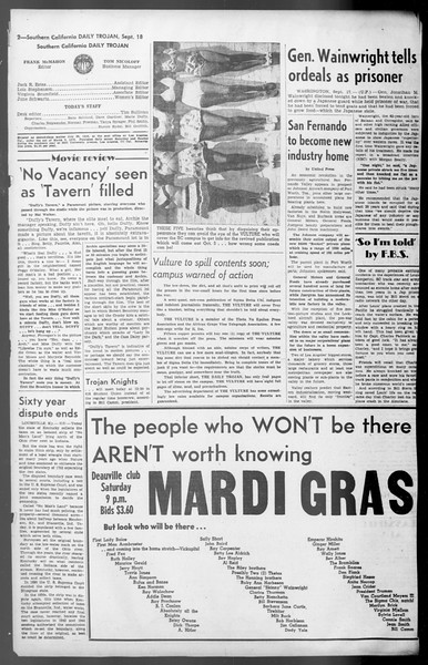 Daily Trojan, Vol. 36, No. 202, September 18, 1945