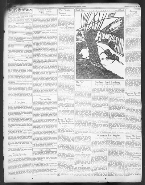 Daily Trojan, Vol. 24, No. 94, February 28, 1933