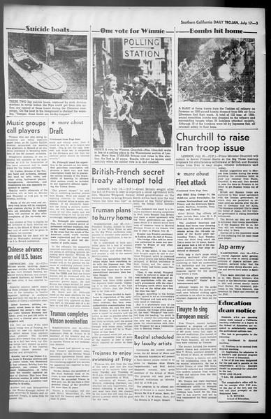 Daily Trojan, Vol. 36, No. 158, July 17, 1945
