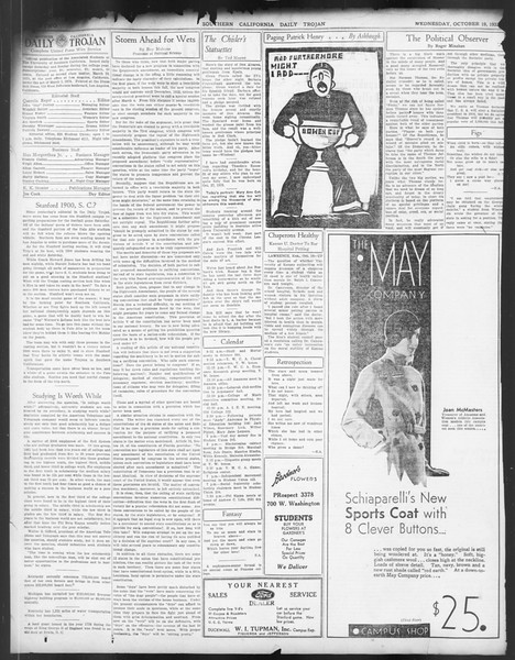 Daily Trojan, Vol. 24, No. 29, October 19, 1932
