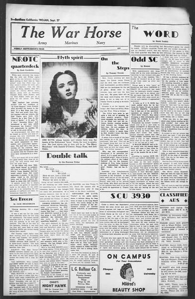 The Trojan, Vol. 35, No. 169, September 27, 1944